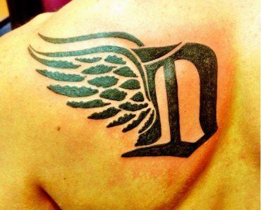 Letter D Tattoo