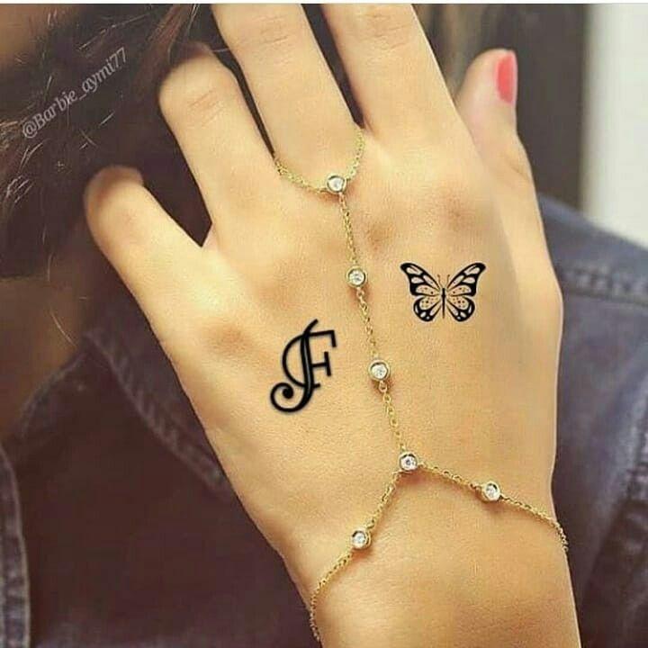 Letter F Tattoos