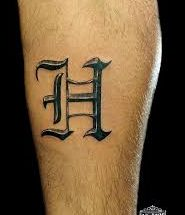 Letter H Tattoos