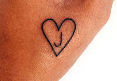 Letter J Tattoo