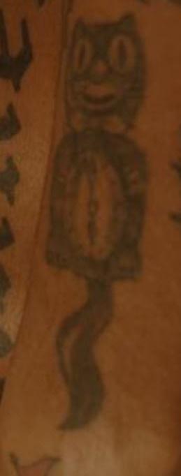 Lil Tracy Cat Clock Tattoo