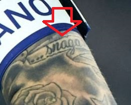 Marcelo Banner on left arm