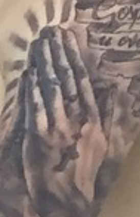 Marcelo Praying Hands Tattoo