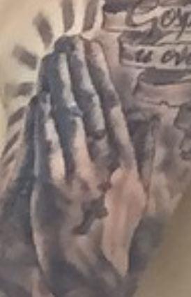 Marcelo Praying Hands Tattoo