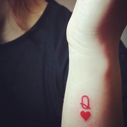 Q letter tattoo