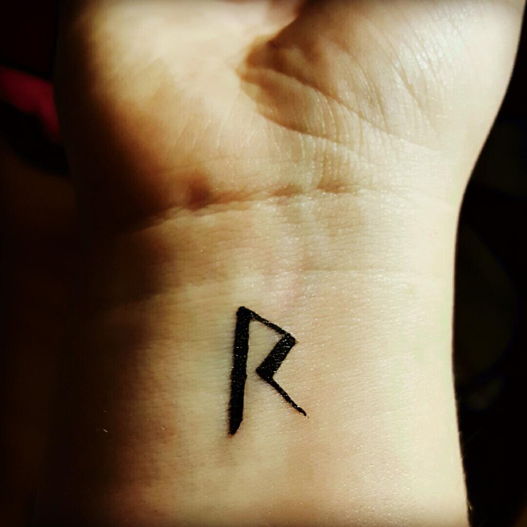 R letter tattoos