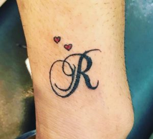 R letter tattoos