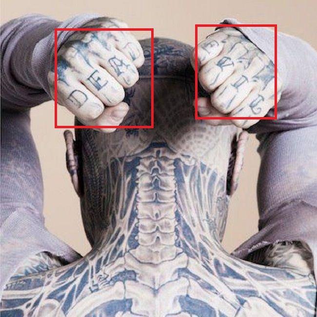 Rick Genest-DEAD EVIL-Tattoo