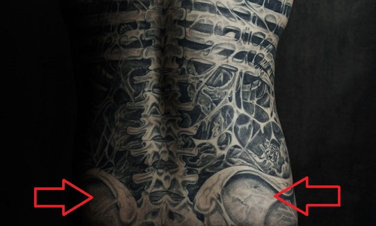 Rick Genest-Hip Bone-Tattoo