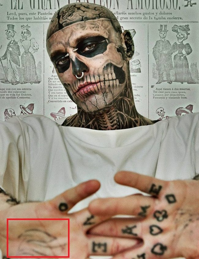 Rick Genest-Right Palm-Tattoo