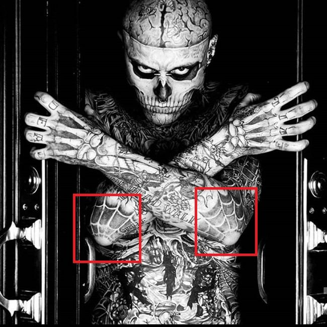 Rick Genest-Spider Web-Tattoo