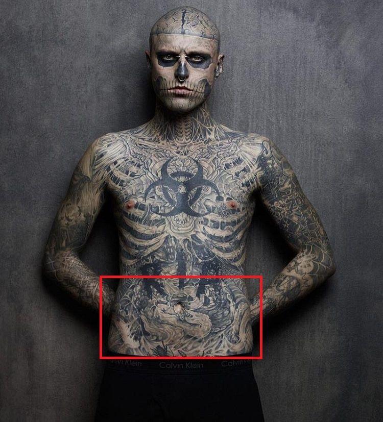 Rick Genest-Tattoo-Abdomen