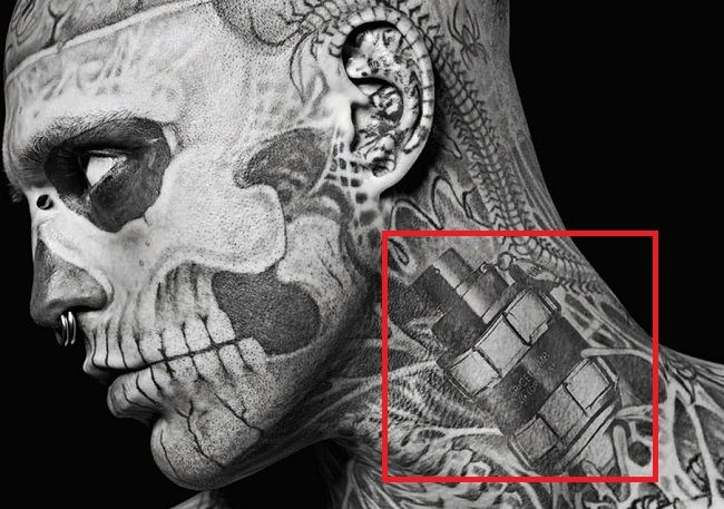Rick Genest-Tattoo-Neck