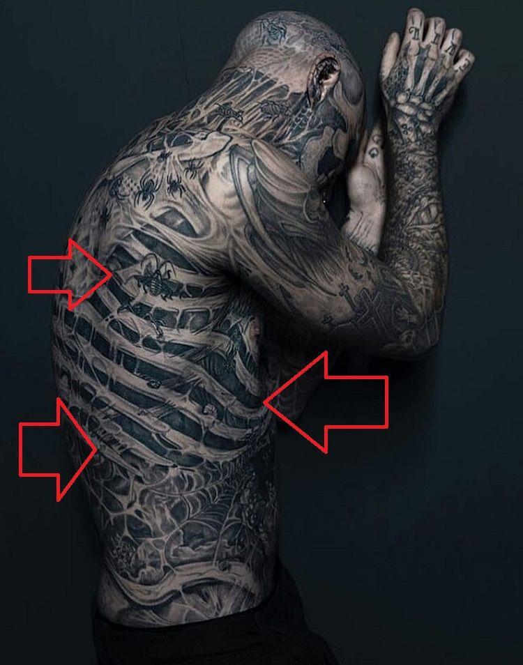 Rick Genest-Tattoo-Ribcage