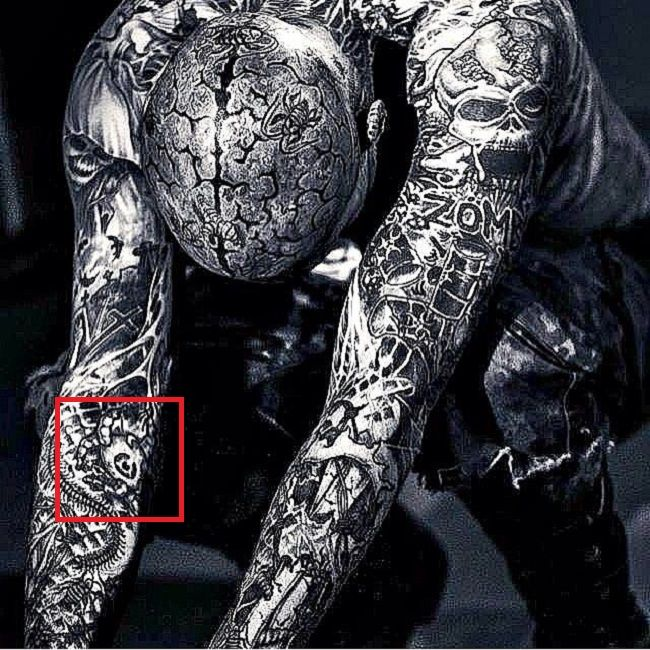Rick Genest-Tattoo-Right-Arm