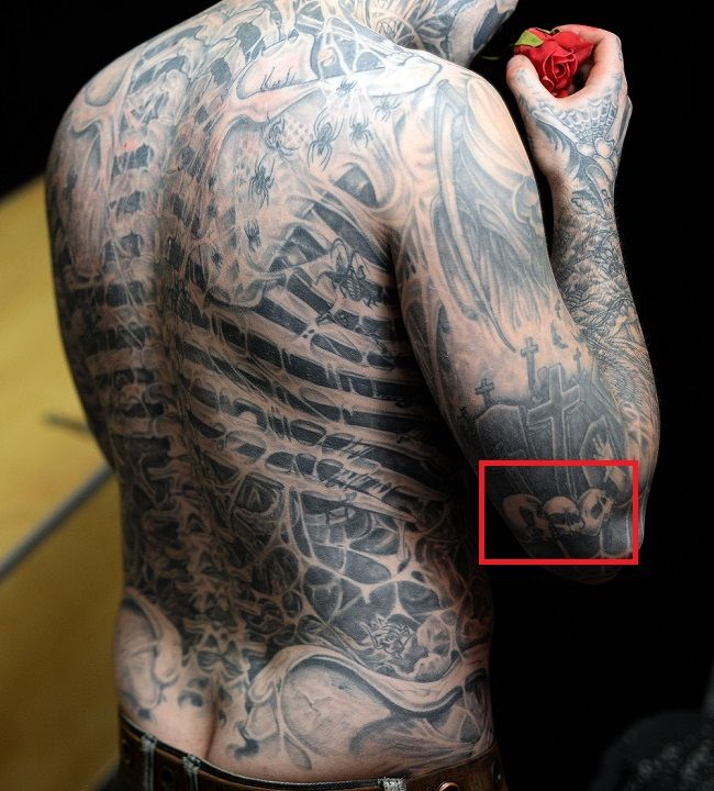 Rick Genest-Tiny Skulls-Tattoo