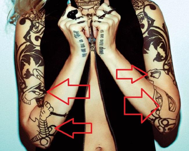 Sara Fabel-Griffins-Tattoo