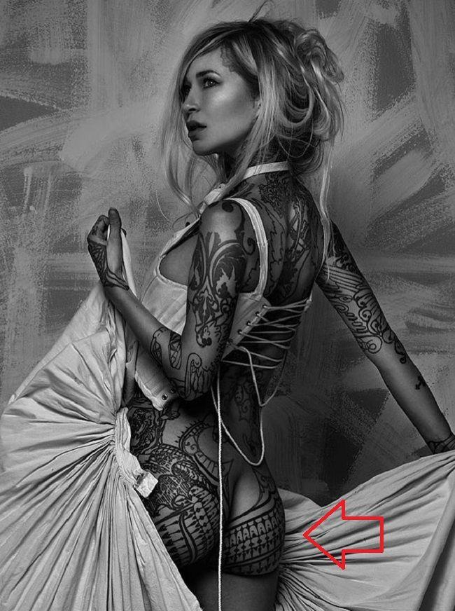 Sara Fabel-Hips-Tattoo