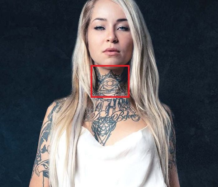 Sara Fabel-Illuminati-Tattoo