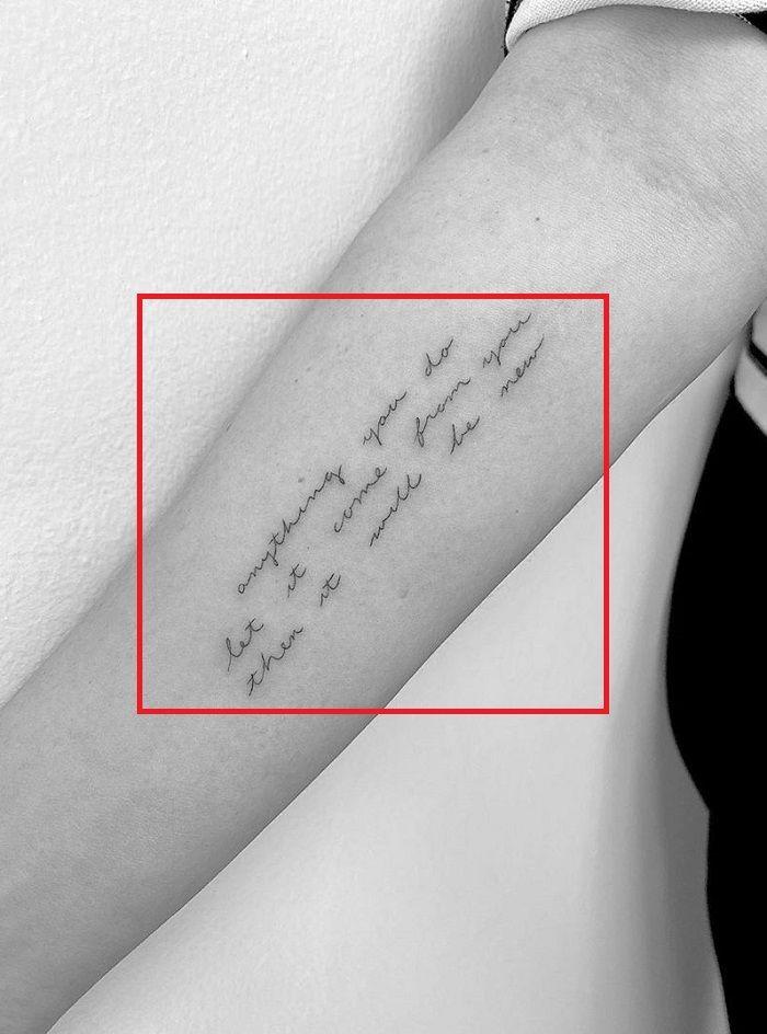 Sarah Paulson-Tattoo on Right Forearm