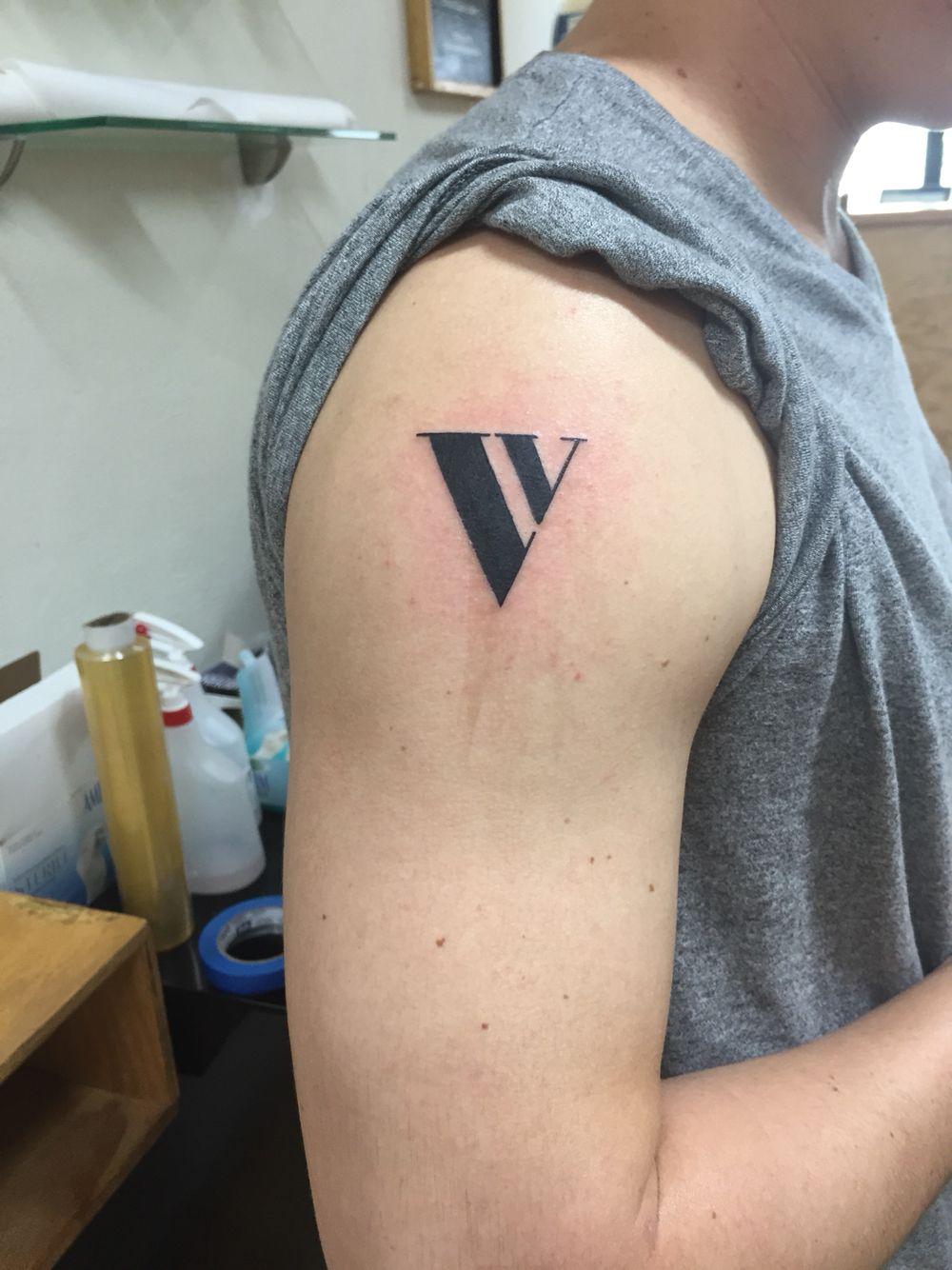 V letter tattoos