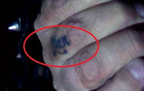 Vince finger Tattoo