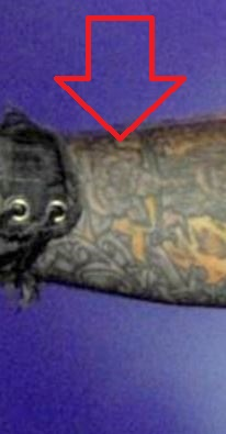 Vince roses on right arm Tattoo