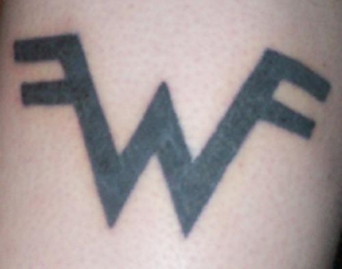 W Letter Tattoo