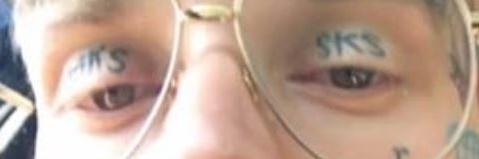 Yzomandias Eye lids Tattoo