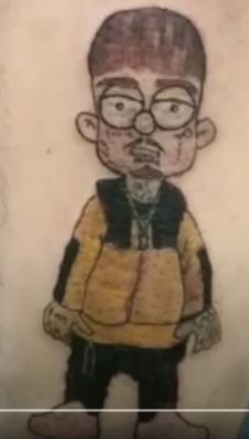 Yzomandias self portrait Tattoo