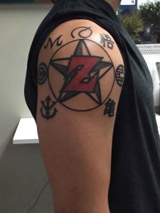 Z letter Tattoo