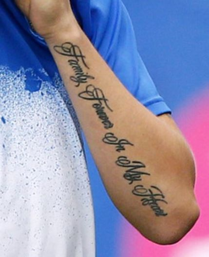 Left lower arm  tattoo