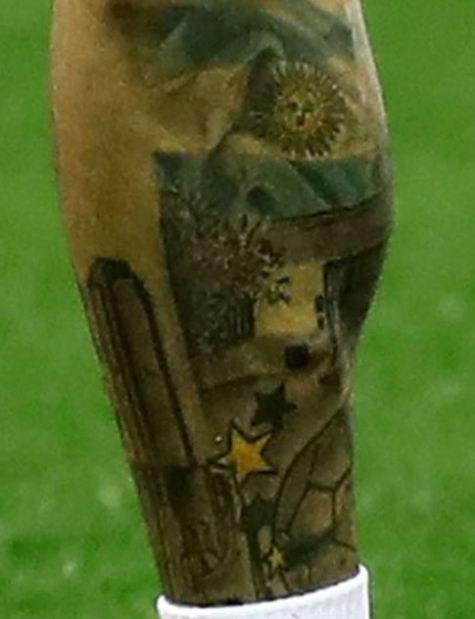 Angel Di Maria football tattoo2