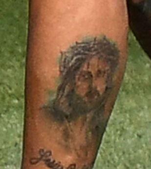 Angel Di Maria jesus tattoo