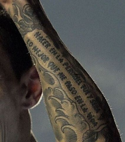 Angel Di Maria quote tattoo