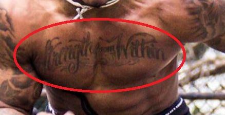 Chris chest Tattoo