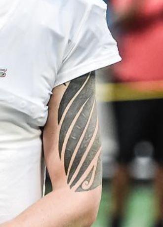 David Fales tribal tattoo