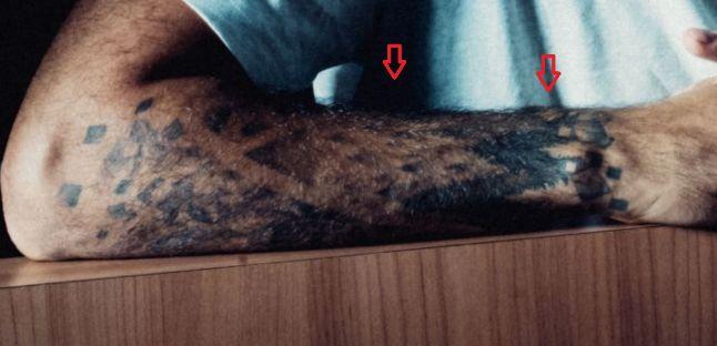 Evan Fournier trees tattoo