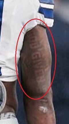 Ezekiel Elliott god given tattoo