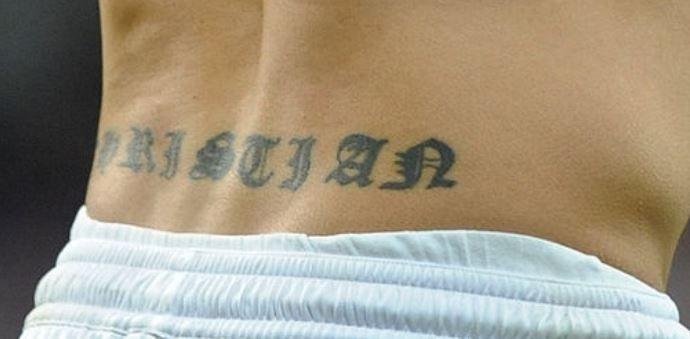 Fabio writing on back-