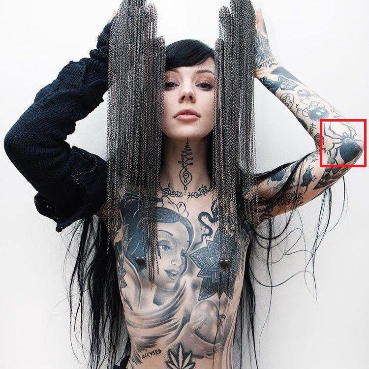 Grace Neutral-Spider-Tattoo