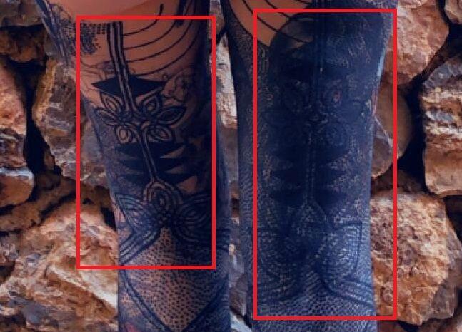 Grace Neutral-Tattoo-legs-Backside