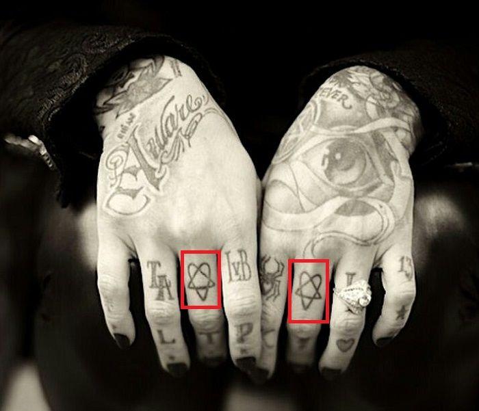 Kat Von D-Heartagram-Tattoo