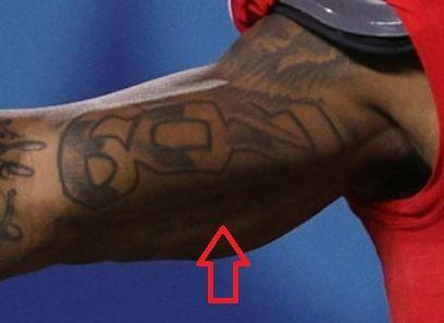Mecole Hardman number tattoo