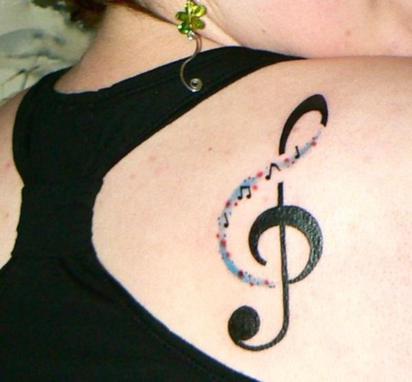 Musical Note tattoo