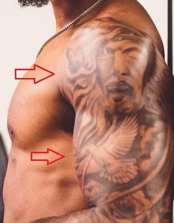 NKeal Harry jesus dove tattoo