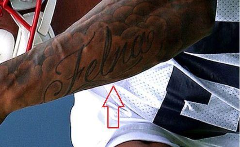 NKeal Harry name tattoo