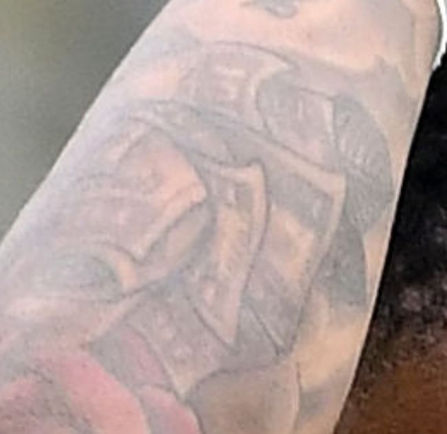 Nathaneil dollor bills Tattoo-
