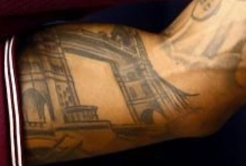 Nathaneil left arm Tattoo-