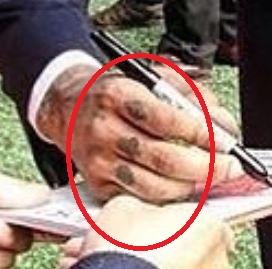 Nathaneil symbols on hand Tattoo-